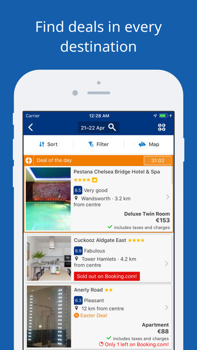 Screenshot for Booking.com Travel Deals in Qatar App Store
