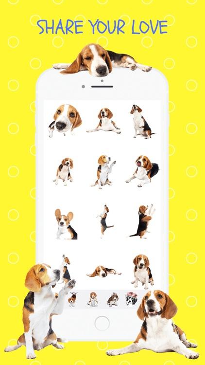 Beagle Fun Emoji Stickers
