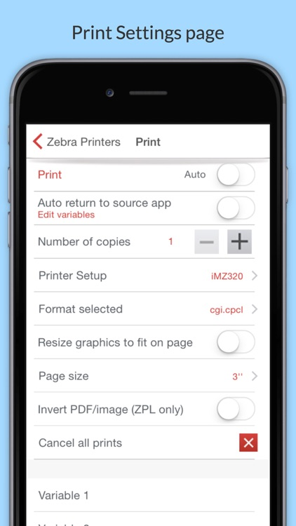 Mobi Print for Mobile Printers