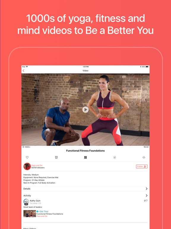 Grokker Yoga, Fitness, and Cooking Videos screenshot