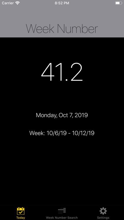 Week Number Pro