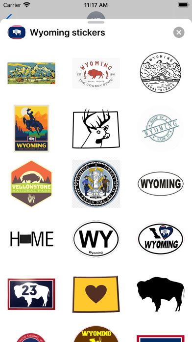 Wyoming emoji - USA stickers screenshot 1