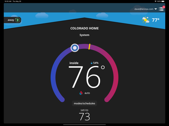 iComfort Thermostat by Lennox Industries (iOS, United States