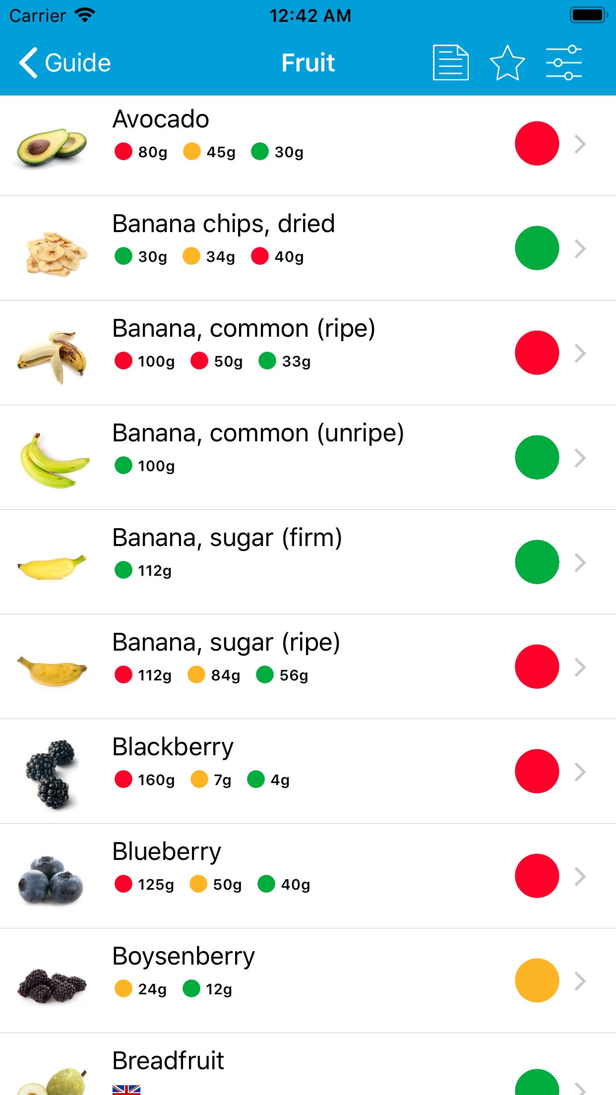 Monash University FODMAP diet Screenshot