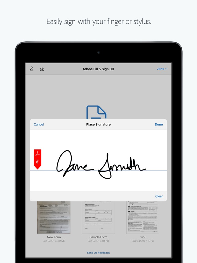 Adobe Fill & Sign-Form Filler on the App Store