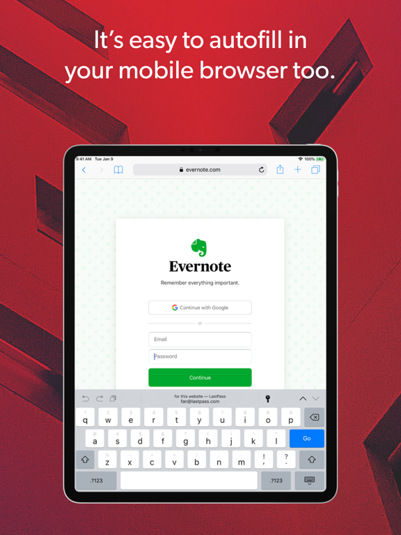 LastPass – Free Password Manager & Secure Vault with Private Notes & Passcode Generator screenshot