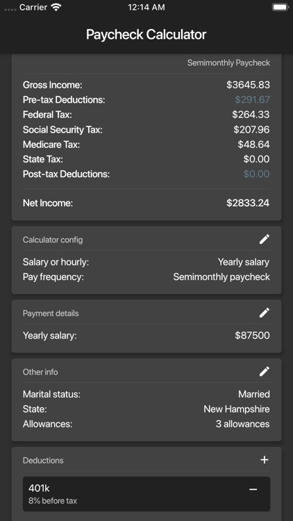 Paycheck Calculator (US) screenshot-5