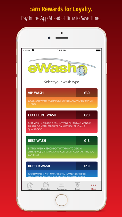 Screenshot of eWash Center2