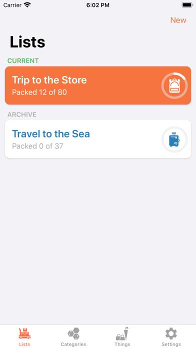 ToPack: Trip Packing Checklist Screenshot