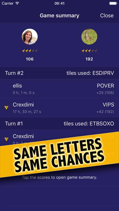 WordCrex: The fair word game screenshot two
