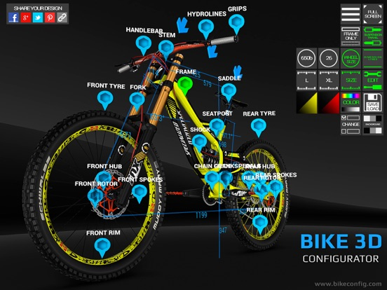 Bike 3D Configurator screenshot