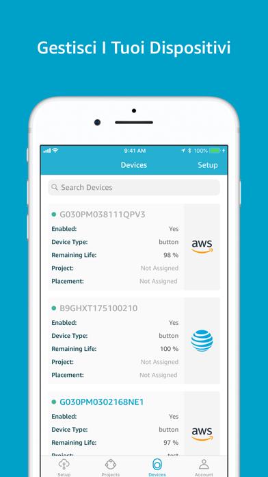 Screenshot of AWS IoT 1-Click3