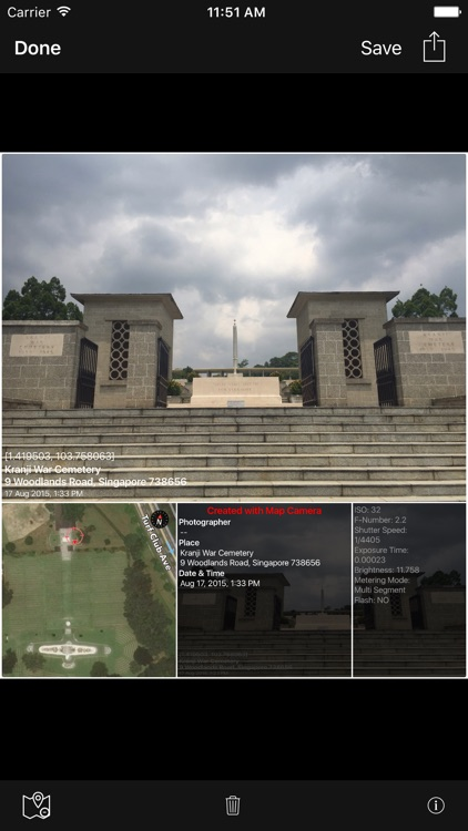 MapCamera: Add Map to Photo screenshot-3