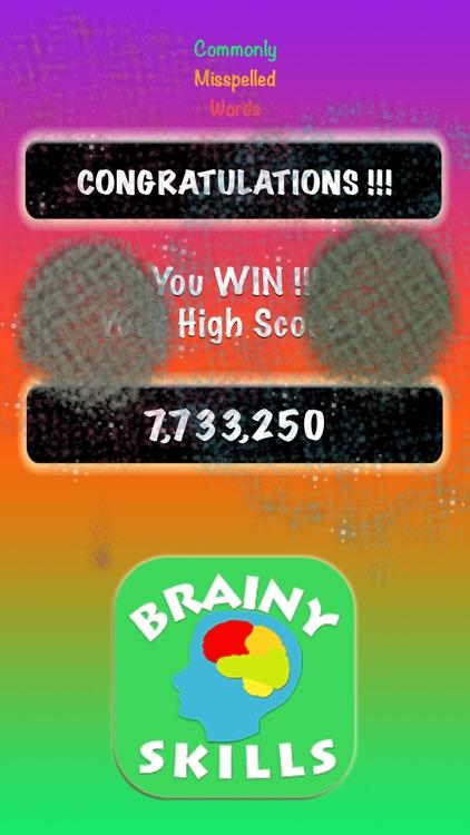 Brainy Skills Misspelled Words screenshot-6