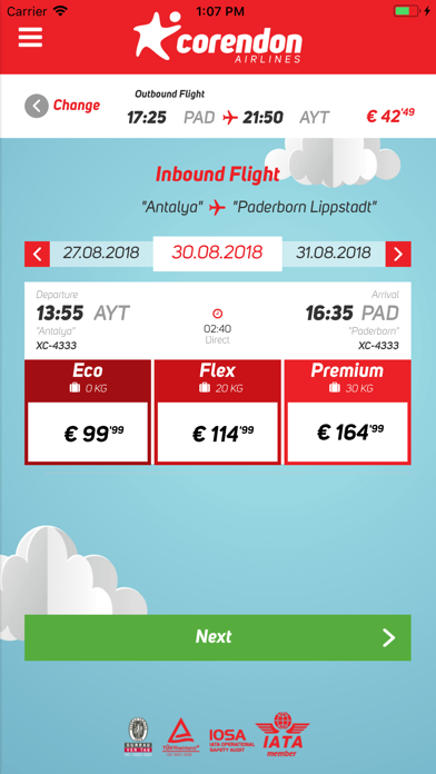 Corendon Airlines screenshot four