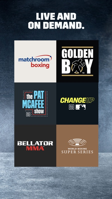 Screenshot for DAZN: Live Boxing, MMA & MLB in United States App Store