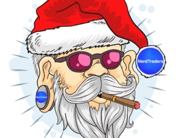"A Sticker Pack of  ""NerdTraders Wish You Merry Christmas"""