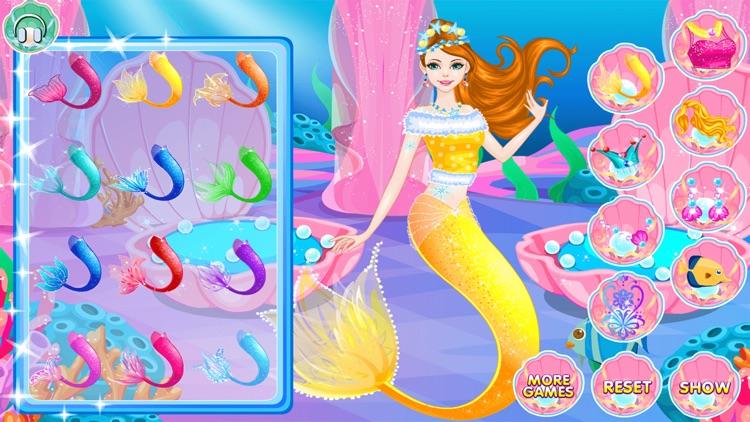 Mermaid Dress Up and Hairstyle screenshot-8