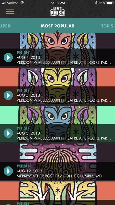 LivePhish Screenshot