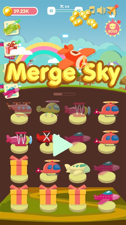 Merge Sky - idle plane games screenshot-0