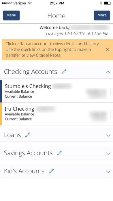 Citadel Mobile Banking screenshot two