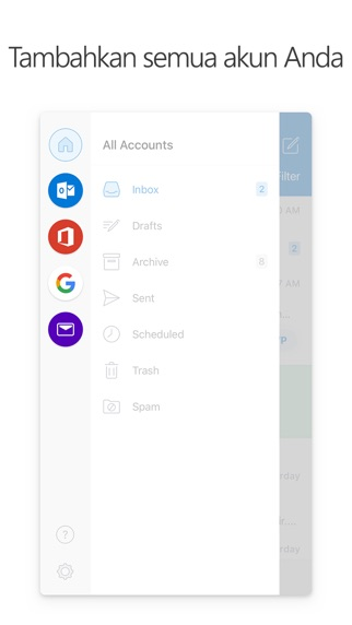Screenshot for Microsoft Outlook in Indonesia App Store