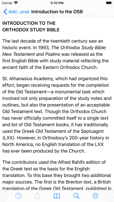 Orthodox Study Bible Screenshot