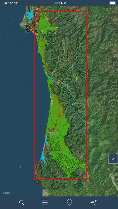 Redwood National Park – GPS screenshot two