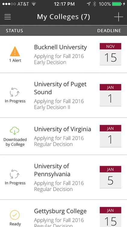 Common App On Track