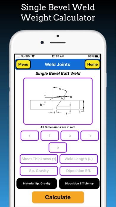 Welding Weight Calculator screenshot 3