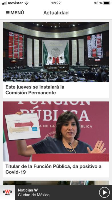 WRadio México para iPhoneCaptura de pantalla de1