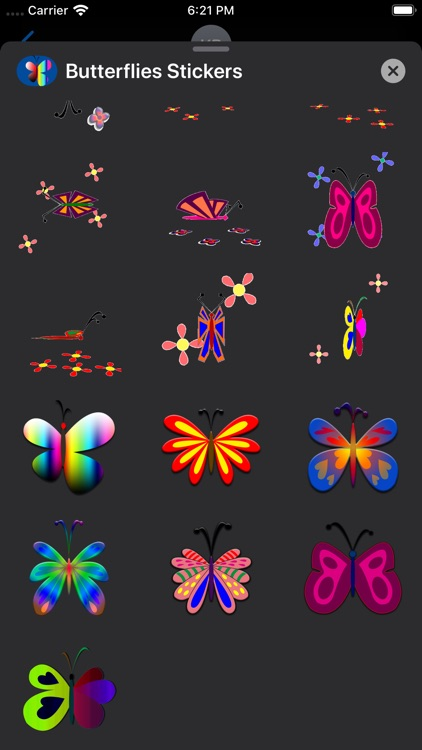 Butterflies Stickers screenshot-6