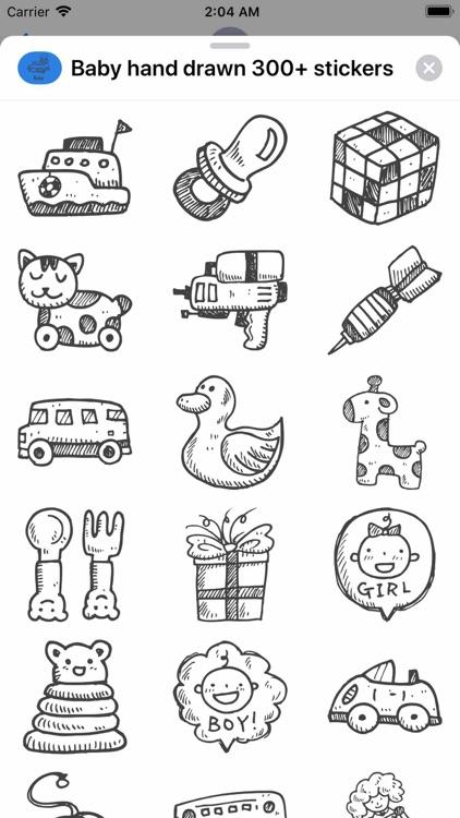 Baby hand drawn 300+ stickers screenshot-4