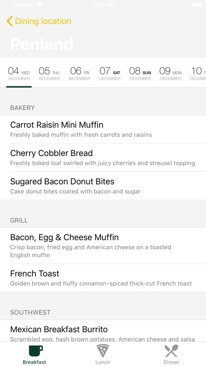 What to eat around