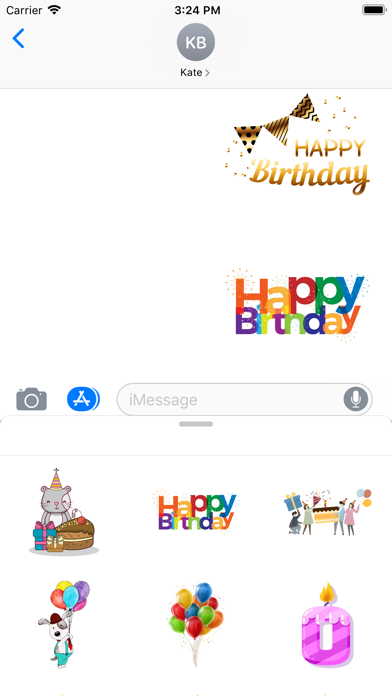 Birthday Emoji Stickers - 窓用