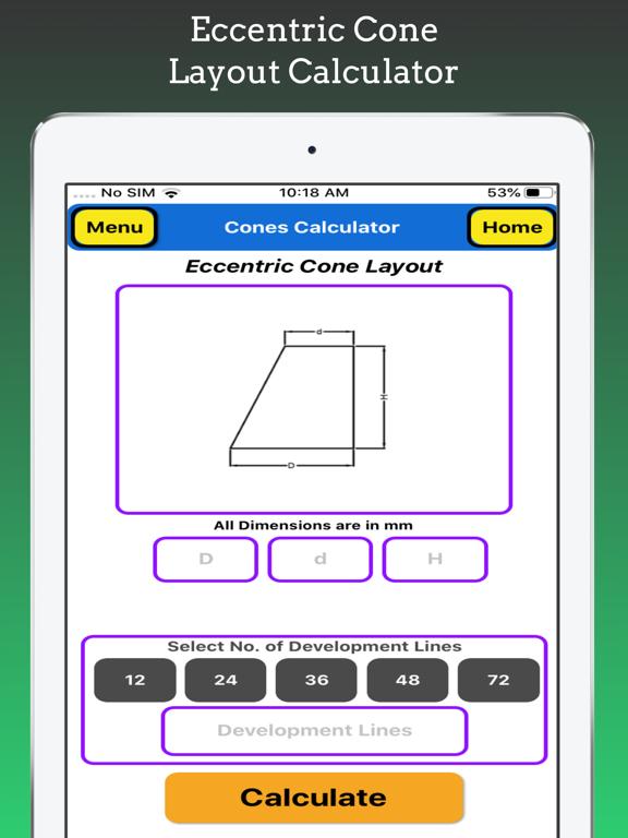 Cones Calculator Pro screenshot 17