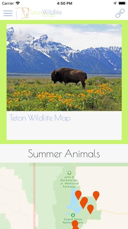 Teton Wildlife Map