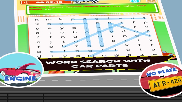Car Word Search For Kids Games screenshot-3