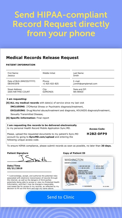 Sync.MD – Mobile Health Record