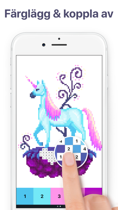 Pixel Art Målarbok För Vuxna Revenue Download