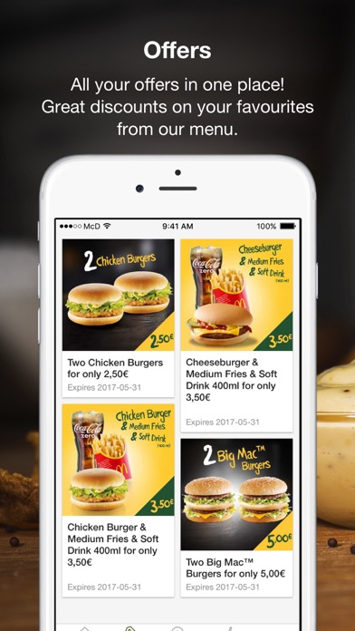Screenshot for McDonald's in Belgium App Store