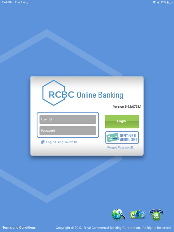 RCBC Online Banking for iPad