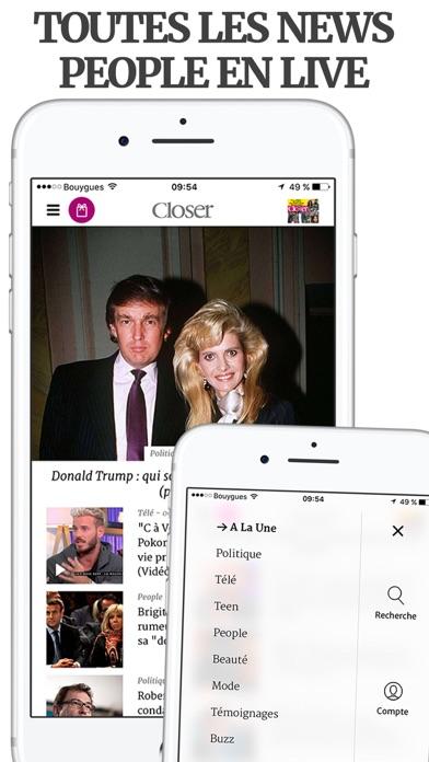 Screenshot #1 pour Closer – Actu et exclus People