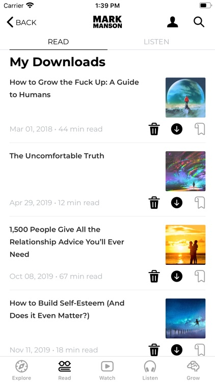 The Mark Manson App screenshot-3