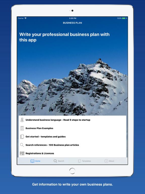 Business Plan for Entrepreneurs' Startups screenshot
