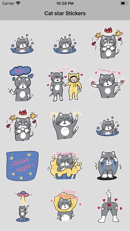 Cat star Stickers