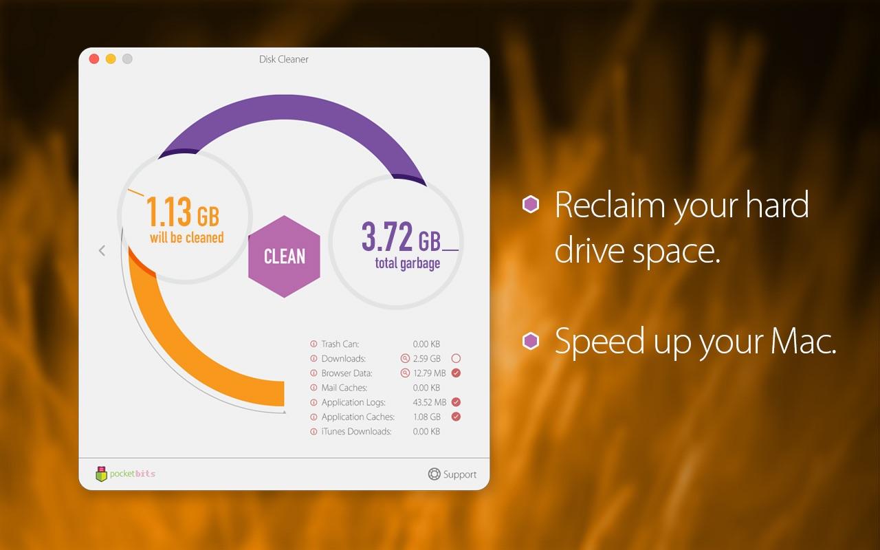 Disk Cleaner 1.8 Mac 破解版 优秀的磁盘垃圾清理工具