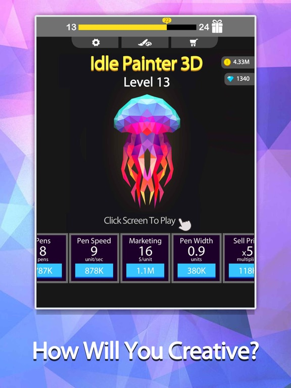 Idle Painter 3D-Low Poly&Tap screenshot 12