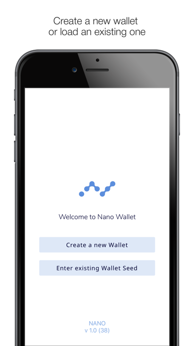NWC Nano Wallet screenshot one