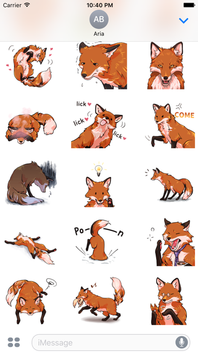 Red Fox FoxMoji Stickers Screenshot